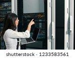 technician apecialist woman... | Shutterstock . vector #1233583561