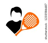 paddle player symbol | Shutterstock .eps vector #1233586687