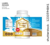 bottle label  package template... | Shutterstock .eps vector #1233594841
