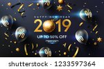 happy new year 2019 promotion... | Shutterstock .eps vector #1233597364