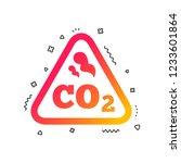 co2 carbon dioxide formula sign ... | Shutterstock .eps vector #1233601864