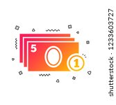 cash and coin sign icon. paper...   Shutterstock .eps vector #1233603727