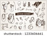 sketches of equestrian... | Shutterstock .eps vector #1233606661