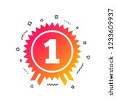 first place award sign icon.... | Shutterstock .eps vector #1233609937