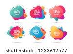 10  discount. sale offer price... | Shutterstock .eps vector #1233612577