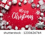 merry christmas and happy... | Shutterstock . vector #1233626764
