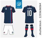 soccer jersey or football kit ... | Shutterstock .eps vector #1233636064