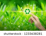 finger touch with environment... | Shutterstock . vector #1233638281