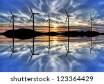 wind force | Shutterstock . vector #123364429