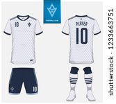 soccer jersey or football kit ... | Shutterstock .eps vector #1233663751