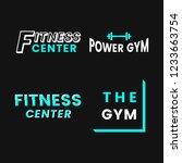set of fitness club logo vectors | Shutterstock .eps vector #1233663754