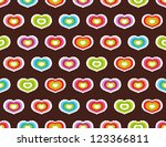 seamless pattern with hearts.... | Shutterstock . vector #123366811