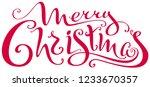 merry christmas ornate... | Shutterstock .eps vector #1233670357