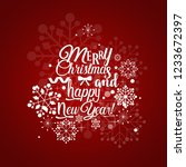 christmas greeting card. merry... | Shutterstock .eps vector #1233672397