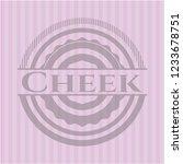 cheek vintage pink emblem | Shutterstock .eps vector #1233678751