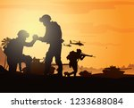 military vector illustration ... | Shutterstock .eps vector #1233688084