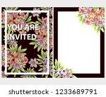 romantic wedding invitation... | Shutterstock . vector #1233689791