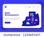 landing page template of app...