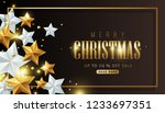 merry christmas sale background ... | Shutterstock .eps vector #1233697351