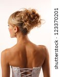 brides hairstyle shooted from... | Shutterstock . vector #123370201