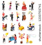street artists musicians master ... | Shutterstock .eps vector #1233703741