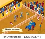 colored and isometric medieval...   Shutterstock .eps vector #1233703747