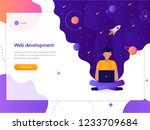 web development. programmer... | Shutterstock .eps vector #1233709684