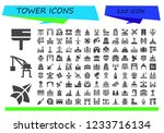vector icons pack of 120 filled ... | Shutterstock .eps vector #1233716134