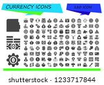 vector icons pack of 120 filled ... | Shutterstock .eps vector #1233717844