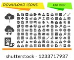 vector icons pack of 120 filled ... | Shutterstock .eps vector #1233717937