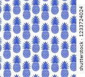 vintage pineapple seamless for... | Shutterstock .eps vector #1233724024
