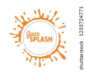 orange circle water splash... | Shutterstock .eps vector #1233724771
