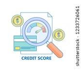 credit score  credit report... | Shutterstock .eps vector #1233726061