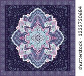 indian rug tribal ornament... | Shutterstock .eps vector #1233730684