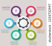 modern infographic choice...   Shutterstock .eps vector #1233732997