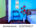 modern bedroom decoration with... | Shutterstock . vector #1233734317