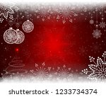 christmas red background with... | Shutterstock .eps vector #1233734374