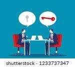 business team mentoring.... | Shutterstock .eps vector #1233737347