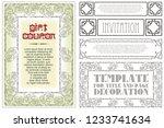 vector template flyer ... | Shutterstock .eps vector #1233741634
