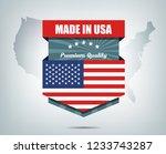 made in usa background design... | Shutterstock .eps vector #1233743287