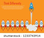 think differently   being... | Shutterstock .eps vector #1233743914