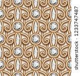 vintage gold jewellery ornament ...   Shutterstock .eps vector #1233747487