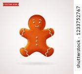 gingerbread man. christmas...   Shutterstock .eps vector #1233752767