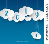 happy new 2019 year. greetings...   Shutterstock .eps vector #1233753271