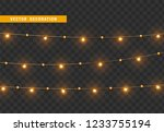 christmas decorations  isolated ... | Shutterstock .eps vector #1233755194