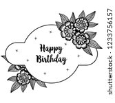 birthday floral card style... | Shutterstock .eps vector #1233756157