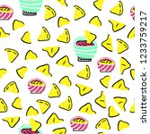 seamless vector pattern with... | Shutterstock .eps vector #1233759217
