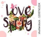 spring sound  a romantic slogan ... | Shutterstock .eps vector #1233761224