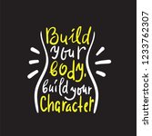 build your body build your... | Shutterstock .eps vector #1233762307