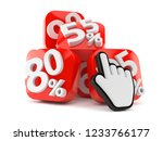 percent numbers with web cursor ... | Shutterstock . vector #1233766177